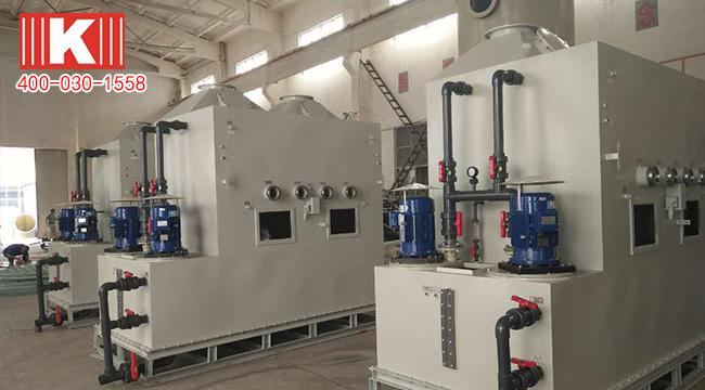 耐酸碱磁力泵和可空转立式泵用于涂装前处理项目