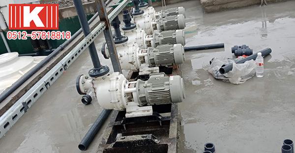 国宝塑料自吸泵在水处理工艺上的应用