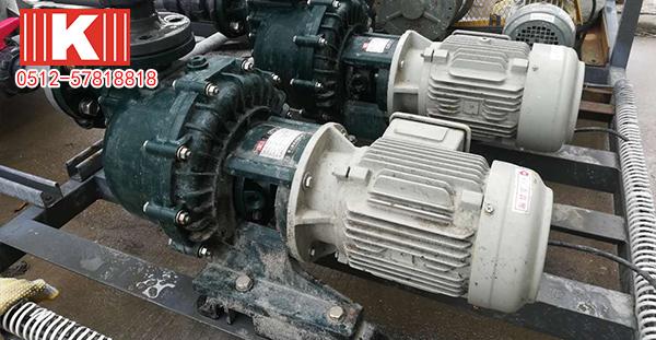 国宝自吸式耐酸碱泵在江苏某客户现场使用案例