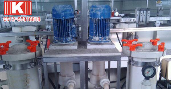废气处理专用泵为何选用昆山国宝耐酸碱立式泵?