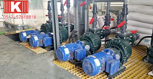 昆山国宝耐酸碱自吸泵如何处理废气?